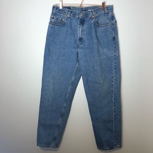 Levis Jeans Mens Size 36X32 Blue 550 Straight Leg Relaxed Fit Pants